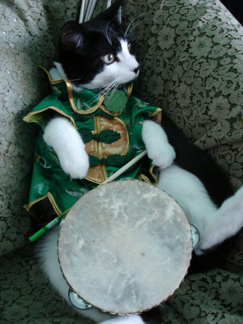 Simon Teakettle III (Terzo) in his band uniform, as Leader of his MEWSical Society.